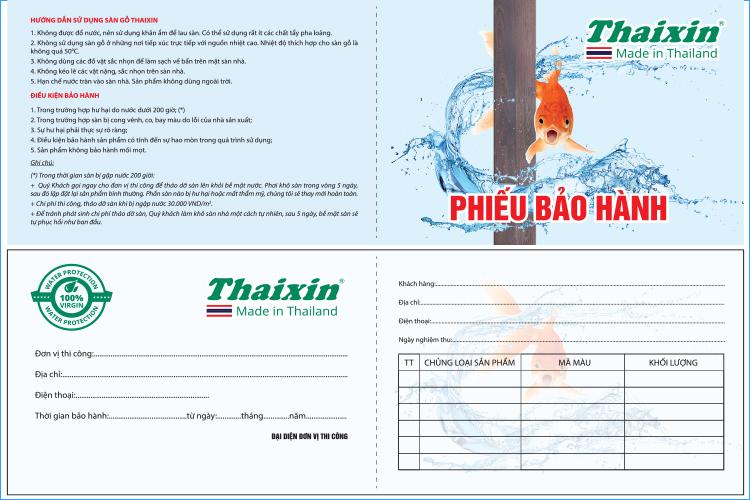 Bảo hành của sàn gỗ Thái Lan cốt xanh