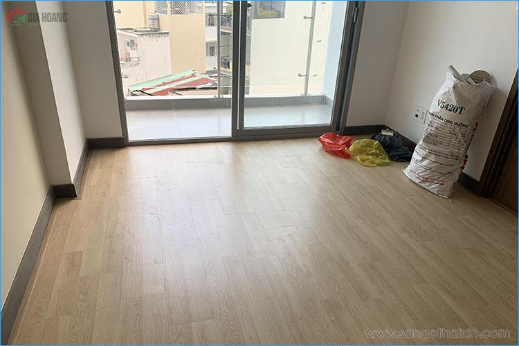 công trình sàn gỗ thaixin cốt xanh vf20659 chung cư hcm